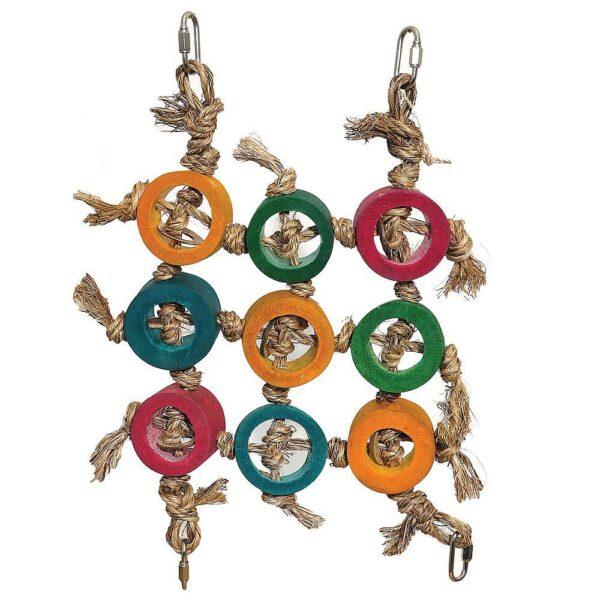 Играчка за папагал-Плетена мрежа за катерене Играчки Средни и Малки папагали Играчки Всички продукти