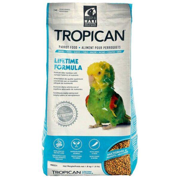 Храна за папагали Hagen Tropican Ежедневна- 1.8 кг Храни и лакомства Храни за големи папагали Гранулирани храни Всички продукти