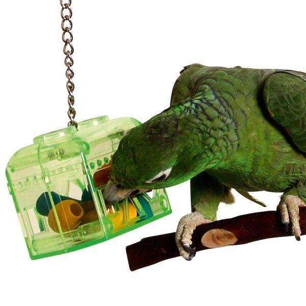 Играчка за скриване на храна+дървените форми- Съкровищница Играчки Големи видове папагали Играчки Всички продукти