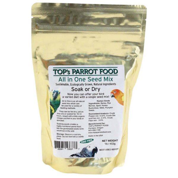 TOP`s Органик- Най висок клас-семена за накисване- 453 гр. Храни и лакомства Храни за големи папагали Семена за покълване и варива Лакомства - Яйчни храни и Други Всички продукти