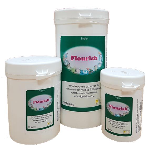 FLOURISH-Процъфтяване – Мощен Имуностимулант за Птици Витамини-Минерали и Добавки Подсилване на имунитета Самооскубване и други критични случаи Всички продукти
