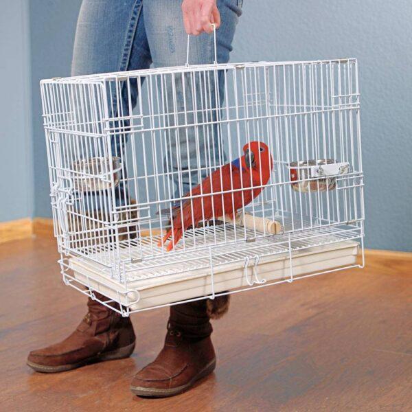 Сгъваема транспортна клетка за папагали Клетки и волиери Оборудване-Аксесоари Всички продукти