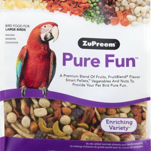 Гранули за големи папагали -ZuPreem Pure Fun-907 гр. Храни и лакомства Храни за големи папагали Гранулирани храни Всички продукти