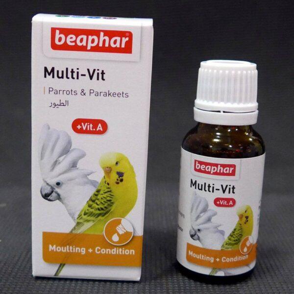 Мултивитамини за папагали – Beaphar – 20мл. Витамини-Минерали и Добавки Подсилване на имунитета Хигиена и козметика Всички продукти