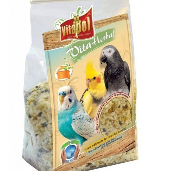 Vitapol – Ориз и плодове за птици и папагали – Средни и Малки видове 130гр Храни и лакомства Храни за малки и средни папагали Семена за покълване и варива Лакомства и Други Всички продукти