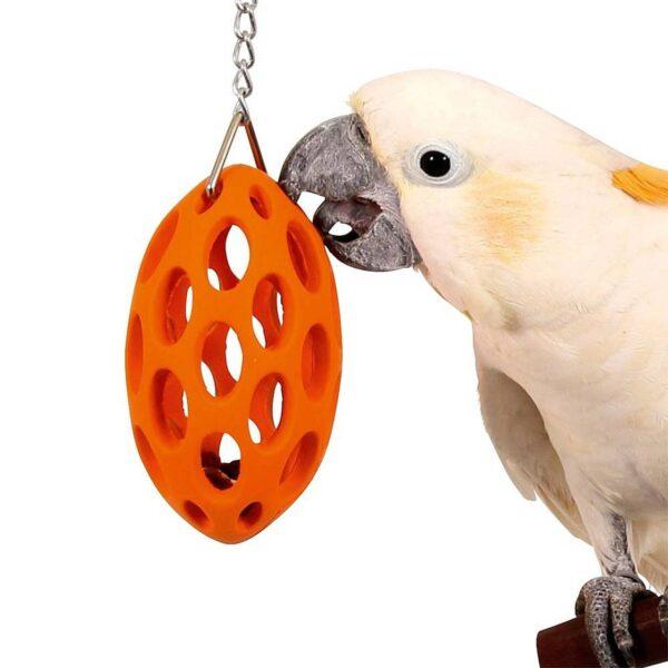 Играчка за Папагали -Луда гумена хранителна играчка Играчки Големи видове папагали Играчки Всички продукти