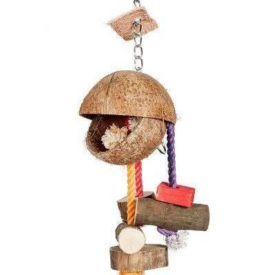 Висящи чукчета-КОКОСОВА ИГРАЧКА Играчки - Големи видове папагали Играчки Оборудване-Аксесоари Всички продукти