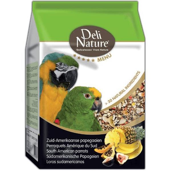 Храна за папагали-DELI NATURE – ЮЖНОАМЕРИКАНСКИ / 800 гр. Храни и лакомства Храни за големи папагали Сухи семенни миксове Всички продукти