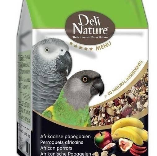 Храна за папагали-DELI NATURE – АФРИКАНСКИ 800 гр. Храни и лакомства Храни за големи папагали Сухи семенни миксове Всички продукти