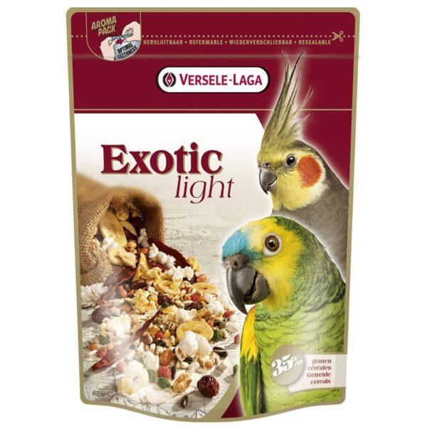 ХРАНА ЗА ГОЛЕМИ и средни ПАПАГАЛИ – EXOTIC LIGHT- 0.750 кг. Храни и лакомства Храни за големи папагали Сухи семенни миксове Храни за малки и средни папагали Сухи семенни миксове Всички продукти