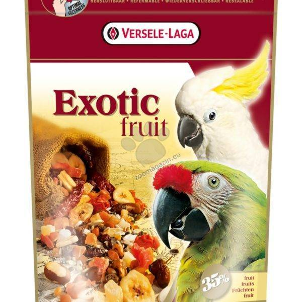 ХРАНА ЗА ГОЛЕМИ ПАПАГАЛИ С ЕКЗОТИЧНИ ПЛОДОВЕ- 600 гр. Храни и лакомства Храни за големи папагали Сухи семенни миксове Всички продукти