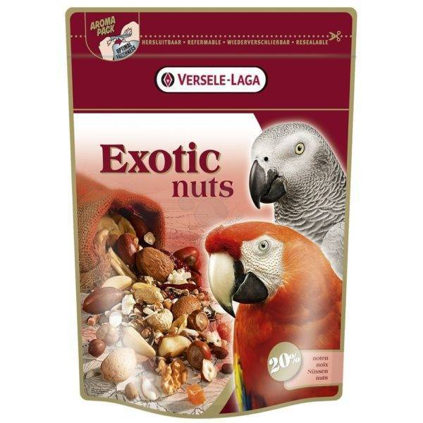 ХРАНА ЗА ГОЛЕМИ ПАПАГАЛИ С ЯДКИ- EXOTIC NUT – 0.750 кг Храни и лакомства Храни за големи папагали Сухи семенни миксове Всички продукти