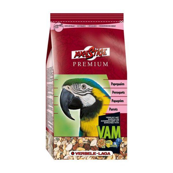 ХРАНА ЗА ГОЛЕМИ ПАПАГАЛИ – PREMIUM PARROTS-1 кг Храни и лакомства Храни за големи папагали Сухи семенни миксове Всички продукти