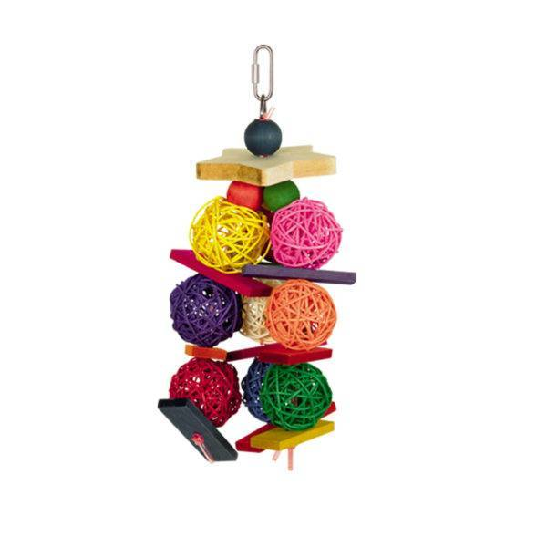 Играчка за папагал- плетени топки със звънчета Играчки Средни и Малки папагали Играчки Всички продукти