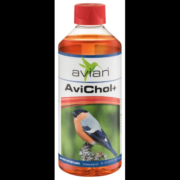 Avian – AviChol +  500 мл. Лечебни - Терапевтични Aves - Avian Добавки към Храната Подпомагане на красиво оперение Самооскубване и други критични случаи Всички продукти