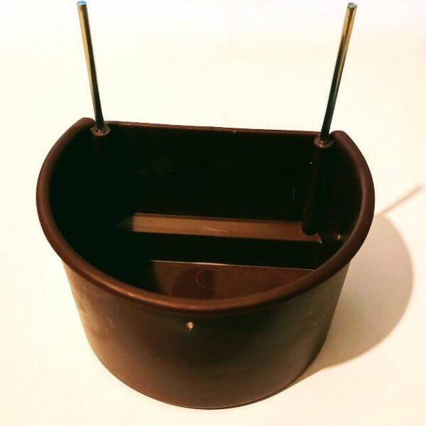 Хранилка за Папагали с телен държач-кафява 300 мл. Хранилки и Поилки Всички продукти