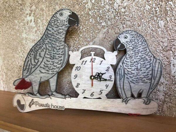 Стенен Часовник с Папагали – Жако Играчки - Големи видове папагали Играчки - Средни и Малки папагали Оборудване-Аксесоари Кацалки Всички продукти