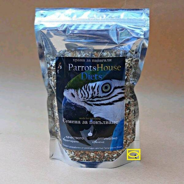 Семена за покълване – Parrots House -НАСИПНО 1 кг. Храни и лакомства Храни за големи папагали Семена за покълване и варива Храни за малки и средни папагали Семена за покълване и варива Насипни храни Насипни Храни за големи папагали Насипни Храни за малки папагали Всички продукти