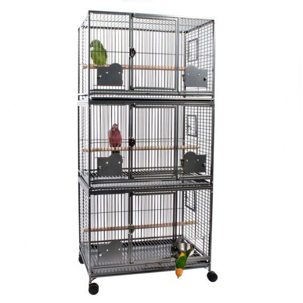 Тройна Клетка за Папагали G1 – размер М