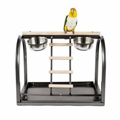Стойка с бар за папагали