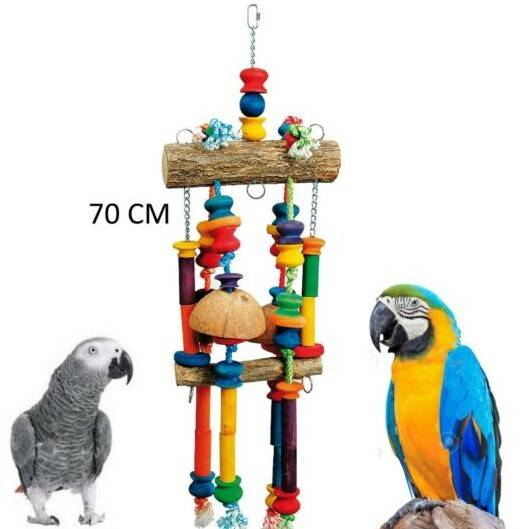 Играчки за папагали- Натурално Дърво-VSL82