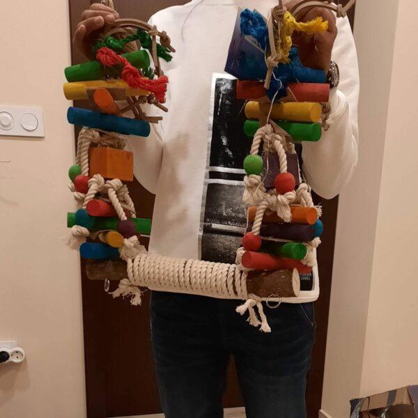 Люлка за папагали- Голяма-VSL81 Всички Играчки Играчки - Големи видове папагали Всички продукти