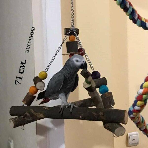 Тройна Люлка за папагали- Голяма-VSL834 – 71 см. Всички Играчки Играчки Играчки - Големи видове папагали Всички продукти
