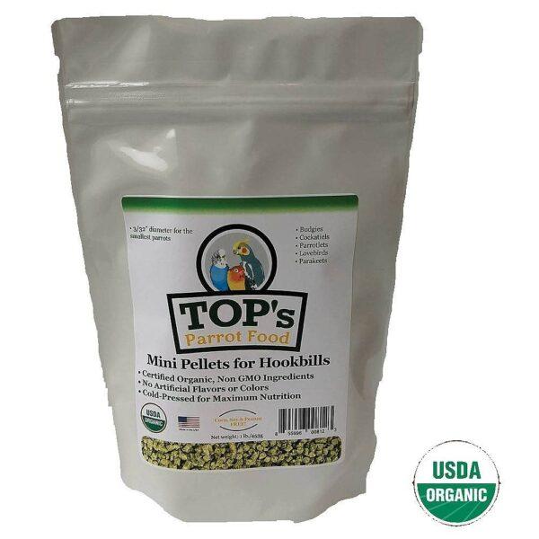 TOP'S – Органична храна за папагали МИНИ ГРАНУЛКИ – 1.8 кг.